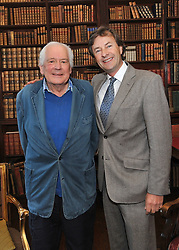 Jeremy Altamount pictured with  Tim Knatchbull at Westport House on friday evening at the launch of Lord Altamount's memoir 'A Life at Westport House 50 Years A Going'.<br /> Pic Conor McKeown