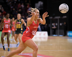 England's Chelsea Pitman passes the ball against South Africa in the Netball Quad Series netball match, ILT Stadium Southland, Invercargill, New Zealand, Sept. 3 2017.  Credit:SNPA / Adam Binns ** NO ARCHIVING**