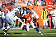 DENVER, CO - OCTOBER 30: Von Miller #58 of the Denver Broncos pursues a play during the game against the Detroit Lions at Sports Authority Field at Mile High on October 30, 2011 in Denver, Colorado. The Lions defeated the Broncos 45-10. (Photo by Joe Robbins) *** Local Caption *** Von Miller