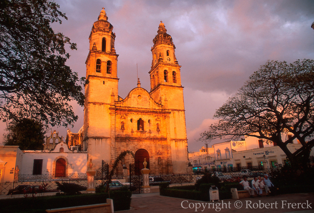 MEXICO, YUCATAN Campeche; the Cathedral