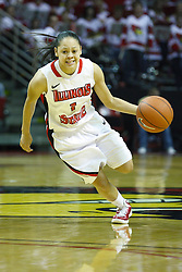 05 February 2011: Alexis Jenkins during an NCAA Women's basketball game between the Indiana State Sycamores and the Illinois State Redbirds at Redbird Arena in Normal Illinois.