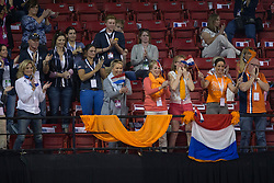 Supporters from Edward Gal, (NED)<br /> Longines FEI World Cup™ Dressage Final I<br /> Las Vegas 2015<br />  © Hippo Foto - Dirk Caremans<br /> 17/04/15