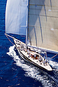 Hanuman  sailing during the Caribbean Superyacht Regatta and Rendezvous, race 2.