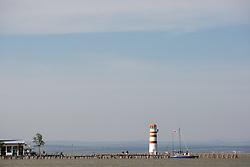 29.04.2012, Burgenland, Neusiedler See, Podersdorf, AUT, PWA, Surf Worldcup, im Bild Leuchtturm am Strandbad in Podersdorf // during surfworldcup at podersdorf, EXPA Pictures © 2012, PhotoCredit: EXPA/ M. Kuhnke