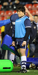 Bristol Rugby's replacement prop, Gaston Cortes during pre-match warm up - Photo mandatory by-line: Paul Knight/JMP - Mobile: 07966 386802 - 05/12/2014 - SPORT - Rugby - Bristol - Ashton Gate - Bristol Rugby v London Scottish - B&I Cup