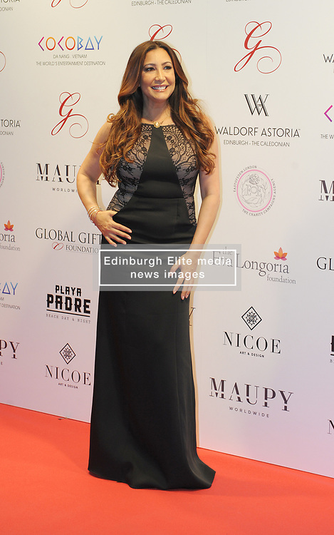 The Global Gift Gala Red Carpet, Wednesday 17th May 2017<br /> <br /> Maria Bravo arrives on the red carpet<br /> <br /> The Global Gift Gala is a unique international initiative from the Global Gift Foundation, a charity founded by Maria Bravo that is dedicated to philanthropic events worldwide; to help raise funds and make a difference towards children and women across the globe.<br /> <br /> Charities benefiting from the 2017 Edinburgh Global Gift Gala include the  Eva Longoria Foundation, which aims to improve education and provide entrepreneurial opportunities for young women;  Place2Be which provides emotional and therapeutic services in primary and secondary schools, building children's resilience through talking, creative work and play; and the Global Gift Foundation with the opening of their first 'CASA GLOBAL GIFT', providing medical treatments and therapy for children affected by rare disease.<br /> <br /> (c) Aimee Todd | Edinburgh Elite media