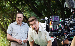 "Al Pacino, Robert DeNiro filming ""The Irishman"". 13 Oct 2017 Pictured: Al Pacino, Robert DeNiro. Photo credit: SteveSands/NewYorkNewswire/MEGA TheMegaAgency.com +1 888 505 6342"