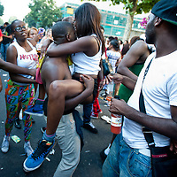 London, UK - 26 August 2013: revellers take part in the annual parade at the Notting Hill Carnival.