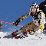 Philip Brown, Canada, in action during the Men's Giant Slalom competition at Coronet Peak, New Zealand during the Winter Games. Queenstown, New Zealand, 22nd August 2011. Photo Tim Clayton