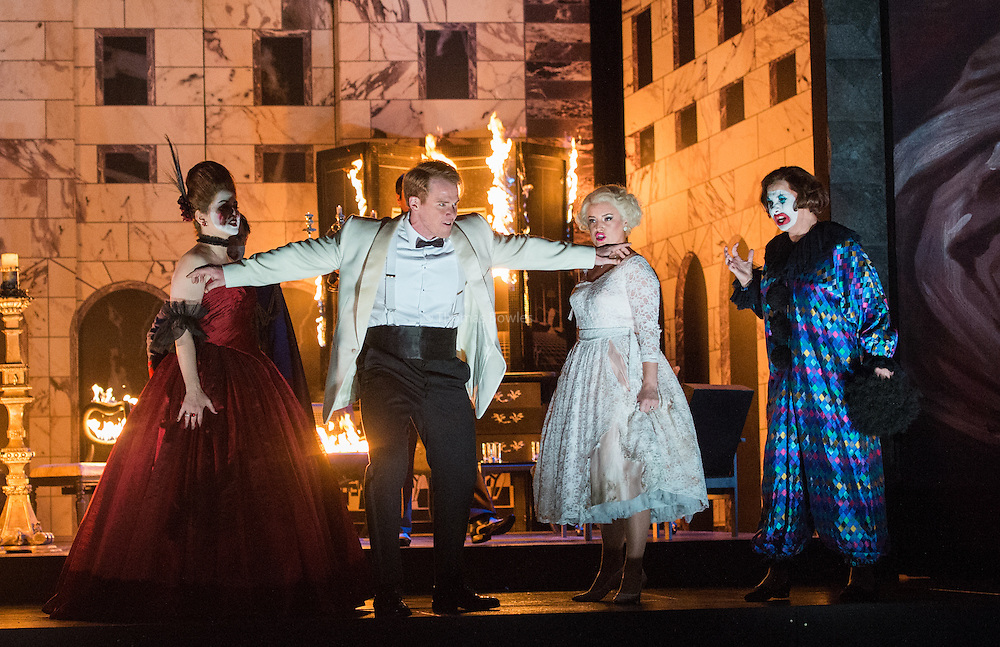 Glyndebourne Touring Opera present Don Giovanni by Wolfgang Amadeus Mozart<br /> <br /> <br /> Don Giovanni - Duncan Rock<br /> Donna Anna -  Ana Maria Labin<br /> Donna Elvira  - Magdalena Molendowska<br /> Zerlina  - Louise Alder<br /> <br /> <br /> Conductor Pablo Gonz&aacute;lez (15, 22, 25, 27, 30 Oct; 4,8, 11, 15, 18, 22, 25 Nov)<br /> Ben Gernon (29 Nov; 2, 6, 9 Dec)<br /> Director Jonathan Kent<br /> Revival Director Lloyd Wood<br /> Designer Paul Brown<br /> Lighting Designer Mark Henderson<br /> <br /> The Glyndebourne Tour Orchestra<br /> The Glyndebourne Chorus<br /> <br /> Don Giovanni Duncan Rock<br /> Donna Anna Ana Maria Labin<br /> Don Ottavio Anthony Gregory<br /> Donna Elvira Magdalena Molendowska<br /> Leporello Brandon Cedel<br /> Il Commendatore Andrii Goniukov<br /> Zerlina Louise Alder<br /> Masetto Božidar Smiljanić