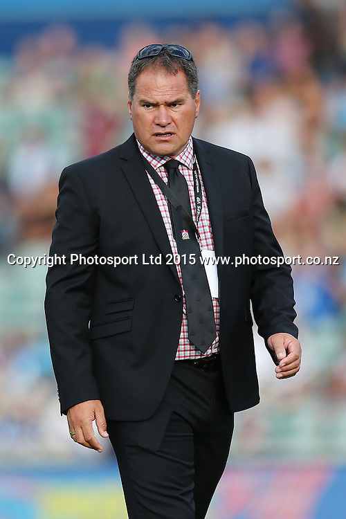 Head Coach Dave Rennie of the Chiefs. Super Rugby match, Blues v Chiefs at QBE Stadium, Auckland, New Zealand. Saturday 14 February 2015. Photo: Anthony Au-Yeung / www.photosport.co.nz