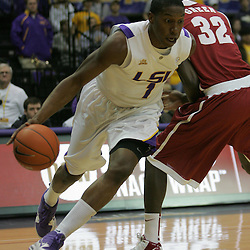 Jan 09, 2010; Baton Rouge, LA, USA; during the first half at the Pete Maravich Assembly Center. Alabama defeated LSU 66-49.  Mandatory Credit: Derick E. Hingle-US PRESSWIRE