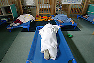 Children of migrant workers in nap time at a Redlands Christian Migrant Association daycare center in Ruskin, Florida.