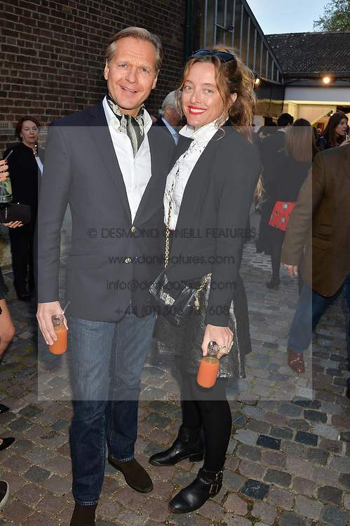 ULRIK GARDE DUE ceo of Temperley and ALICE TEMPERLEY at a private view in aid of Chickenshed of Julian Schnabel's first UK solo show of paintings for 15 years entitled 'Every Angel Has A Dark Side' held at the Dairy Art Centre, 7a Wakefield Street, Bloomsbury, London on 24th April 2014.