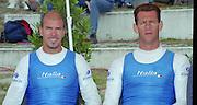 Vienna AUSTRIA.  Men's double sculls, Silver Medalist ITA M2X Bow. Rossano GALTAROSSA and Alessio SARTORI. 2000 FISA World Cup. 2nd Round. Vienna Neue Donau Rowing Course  [Mandatory Credit. Peter Spurrier/Intersport Images]
