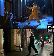 "Film buff Travel's to Famous Movie Locations And Recreate Their Scenes<br /> <br /> Film buff Phil Grishayev Travel's  to movie locations of the most famous films,  Phil says ""it is a fun way to see how the place has changed"" <br /> you can see more of Phil's work on his instagram page www.instagram.com/phil_grishayev<br /> <br /> Photo Shows; The Mask<br /> ©Phil Grishayev/Exclusivepix Media"