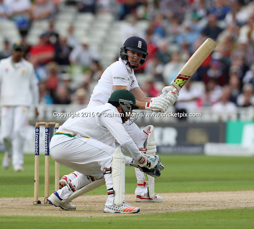 Gary Ballance bats during the third Investec Test Match between England and Pakistan at Edgbaston, Birmingham. Photo: Graham Morris/www.cricketpix.com (Tel:+44(0)20 8969 4192; Email: graham@cricketpix.com) 03/08/2016