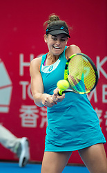 October 12, 2017 - Hong Kong, Hong Kong, China - Jennifer Brady in action.Hong Kong Tennis Open 2017 Zhang Shuai vs Jennifer Brady. Jennifer Brady proves more than a match for top Chines seeded player Zhang Shuai winning 6-3 6-4 (Credit Image: © Jayne Russell via ZUMA Wire)