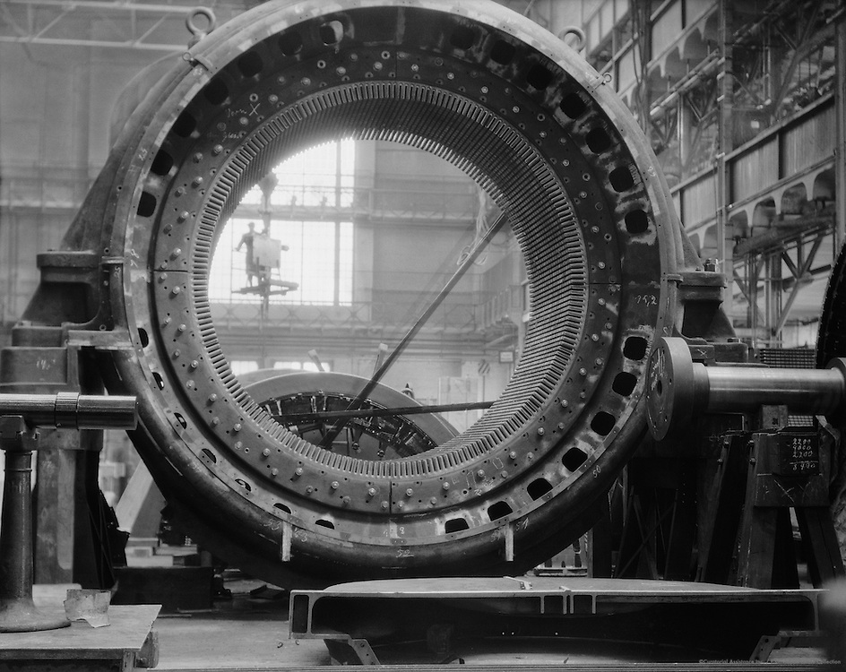 Large alternator, Siemens-Schuckertwerke, Gartenfeld, Berlin-Spandau, 1928