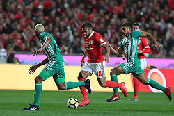 February 3, 2018 - Lisbon, Portugal - Benfica's Argentine midfielder Eduardo Salvio (C ) vies with Rio Ave's defenders during the Portuguese League football match SL Benfica vs Rio Ave FC at the Luz stadium in Lisbon on February 3, 2018. (Credit Image: © Pedro Fiuza/NurPhoto via ZUMA Press)