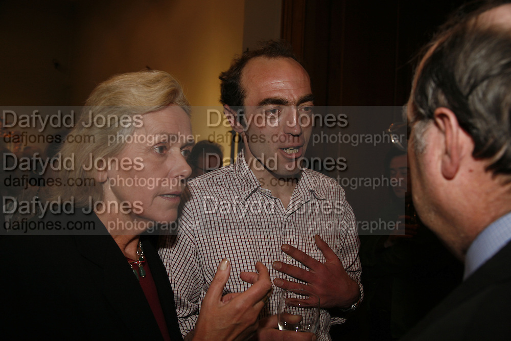 Christopher Finch-Hatton, Party to celebrate the publication of Too Close To The Sun: The Life and Times of Denys Finch Hatton by Sara Wheeler, Christies. King St. St. James. London. 9 March 2006. ONE TIME USE ONLY - DO NOT ARCHIVE  © Copyright Photograph by Dafydd Jones 66 Stockwell Park Rd. London SW9 0DA Tel 020 7733 0108 www.dafjones.com
