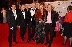 Left to right, CHARLES WORTHINGTON, JEREMY HACKETT, CHARLES JEFFERIES, RULA LENSKA and ALLAN PETERS at the Collars & Coats Gala Ball in aid of Battersea Dogs & Cats Home held at Battersea Evolution, Battersea Park, London on 7th November 2013.