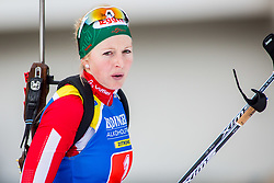 Lisa Theresa Hauser (AUT) during Single Mixed Relay at day 1 of IBU Biathlon World Cup 2018/19 Pokljuka, on December 2, 2018 in Rudno polje, Pokljuka, Pokljuka, Slovenia. Photo by Ziga Zupan / Sportida