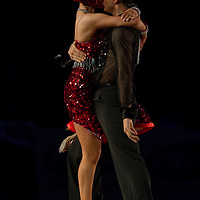 23 January 2010: Anna Mashchyts and Damir Haluzan perform during the Masters Bercy Latin and Ballroom (standard) Dancesport Championship 2010, at Palais Omnisports Paris Bercy, in Paris, France. .