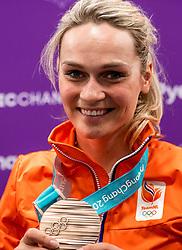 24-02-2018: Olympische Spelen: Dag 15: Pyeongchang<br /> Irene Schouten heeft op de Winterspelen de bronzen medaille gepakt op de massastart.