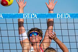 25-08-2019 NED: DELA NK Beach Volleyball, Scheveningen<br /> Last day NK Beachvolleyball / Wies van Solkema
