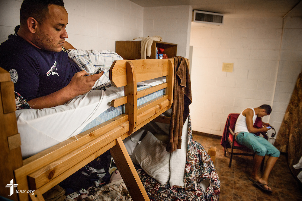 Andy Borrero, a new Cuban immigrant to the United States, relaxes Saturday, May 21, 2016, at Ysleta Lutheran Mission Human Care in El Paso, Texas. LCMS Communications/Erik M. Lunsford