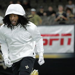 Sep 9, 2019; New Orleans, LA, USA;  New Orleans Saints running back Alvin Kamara warms up prior to kickoff against the Houston Texans at the Mercedes-Benz Superdome. Mandatory Credit: Derick E. Hingle-USA TODAY Sports