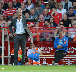 BlackPool's Manger Jose Riga give his players directions from the touchline. - Photo mandatory by-line: Alex James/JMP - Mobile: 07966 386802 09/08/2014 - SPORT - FOOTBALL - Nottingham - City Ground - Nottingham Forest v Blackpool - Sky Bet Championship - First game of the season