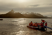 Patagonia, cruising with Ventus Australis. excursion to Aguila Glacier