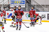 2019-11-23 | Umeå, Sweden:Bodens HK got a late goal to 5-2 by Boden (14) Johan Ceder in HockeyEttan during the game  between Teg and Boden at A3 Arena ( Photo by: Michael Lundström | Swe Press Photo )<br /> <br /> Keywords: Umeå, Hockey, HockeyEttan, A3 Arena, Teg, Boden, mltb191123