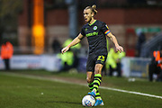 Forest Green Rovers Joseph Mills(23) on the ball during the EFL Sky Bet League 2 match between Leyton Orient and Forest Green Rovers at the Matchroom Stadium, London, England on 23 November 2019.