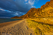 Stormy light on Isla Carmen in the Gulf of California near Loreto Mexico