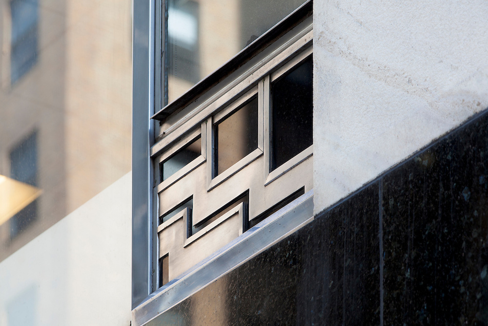 Zig-zag, Art Deco design on the exterior wall of the Chrysler Building