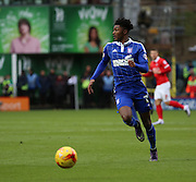 Ipswich midfielder Ainsley Maitland-Niles on the attack during the Sky Bet Championship match between Charlton Athletic and Ipswich Town at The Valley, London, England on 28 November 2015. Photo by Matthew Redman.