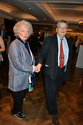 MAGGI HAMBLING and SIR NORMAN ROSENTHAL at a the Fortnum's X Frank private view - an instore exhibition of over 60 works from Frank Cohen's collection at Fortnum & Mason, 181 Piccadilly, London on 12th September 2016.