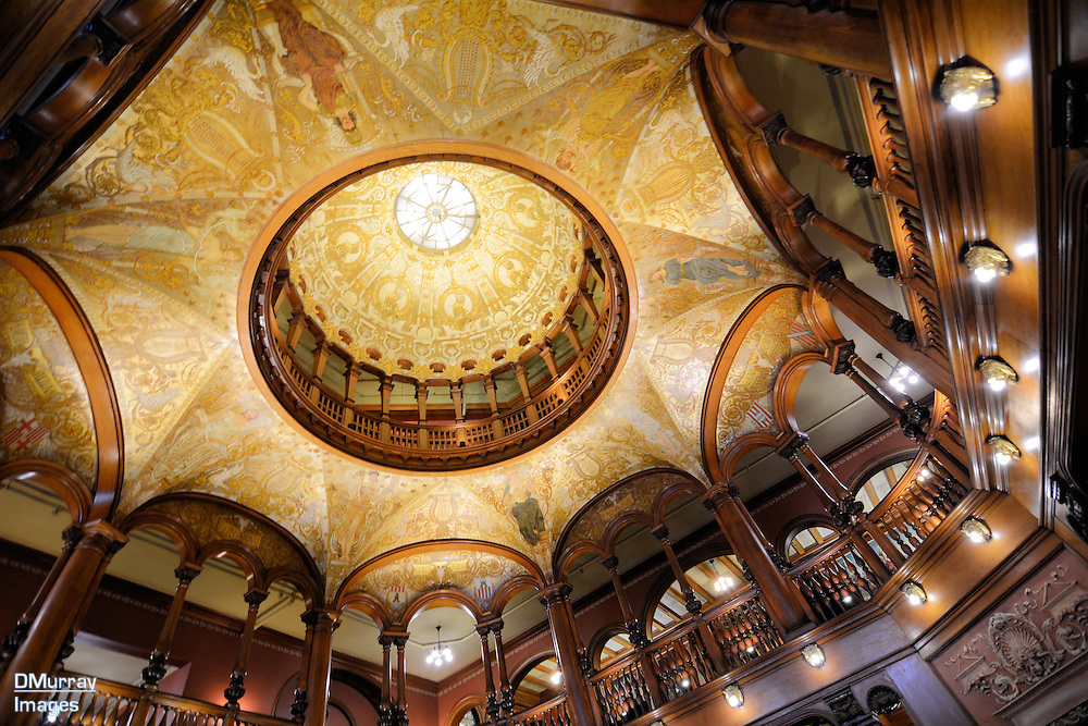 Grand Lobby Dome, Flagler College, Once the Hotel Ponce de León