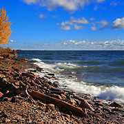 """Red Stones and Waves"" <br />