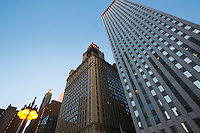 Skyscrapers low angle view Chicago Illinois