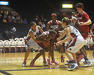 "Ole Miss vs. Arkansas in a women's college basketball game at C.M. ""Tad"" Smith Coliseum in Oxford, Miss. on Thursday, February 17, 2011. Arkansas won 56-53."