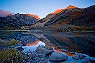 Moonset over North Lake, East Sierra, California