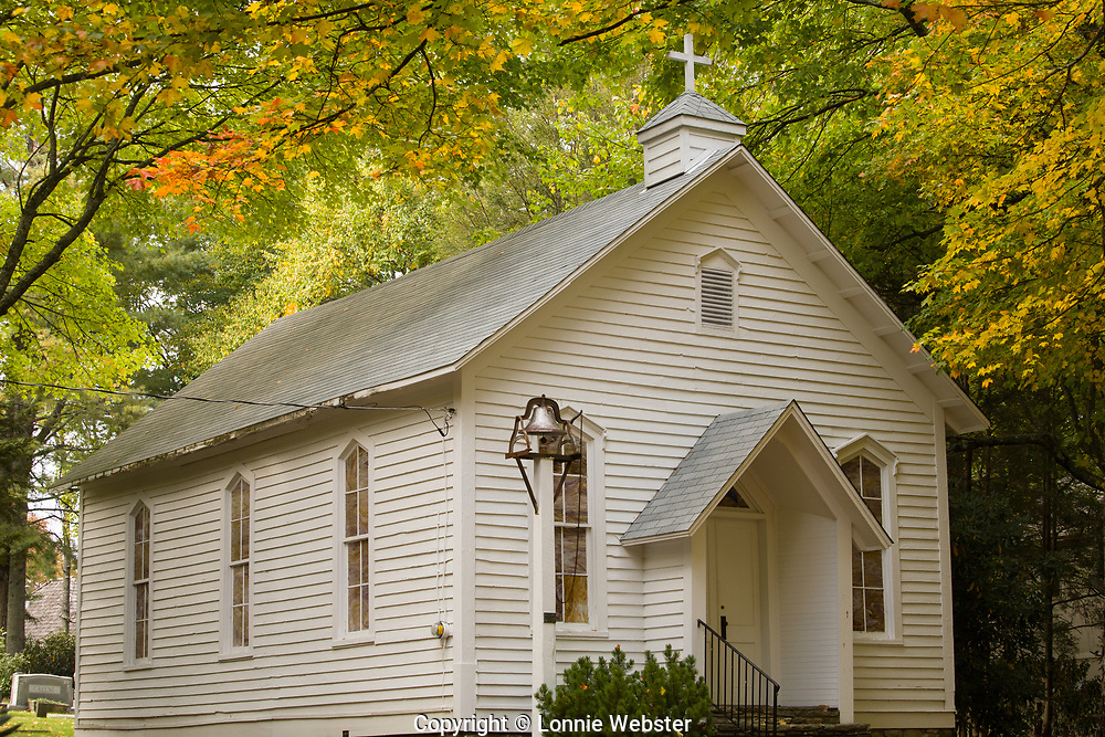 Mount Bethel Church in Blowing Rock NC in the Fall