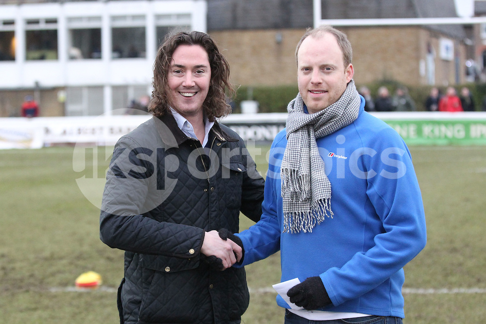 Half Time entertainment during the Green King IPA Championship match between London Scottish &amp; Bristol at Richmond, Greater London on 7th February 2015<br /> <br /> Photo: Ken Sparks | UK Sports Pics Ltd<br /> London Scottish v Bristol, Green King IPA Championship, 7th February 2015<br /> <br /> &copy; UK Sports Pics Ltd. FA Accredited. Football League Licence No:  FL14/15/P5700.Football Conference Licence No: PCONF 051/14 Tel +44(0)7968 045353. email ken@uksportspics.co.uk, 7 Leslie Park Road, East Croydon, Surrey CR0 6TN. Credit UK Sports Pics Ltd