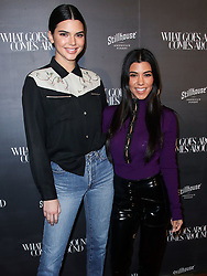 Kendall Jenner and Kourtney Kardashian arrive at the What Goes Around Comes Around One Year Anniversary held at What Goes Around Comes Around on October 11, 2017 in Beverly Hills, California. 11 Oct 2017 Pictured: Kendall Jenner, Kourtney Kardashian. Photo credit: IPA/MEGA TheMegaAgency.com +1 888 505 6342