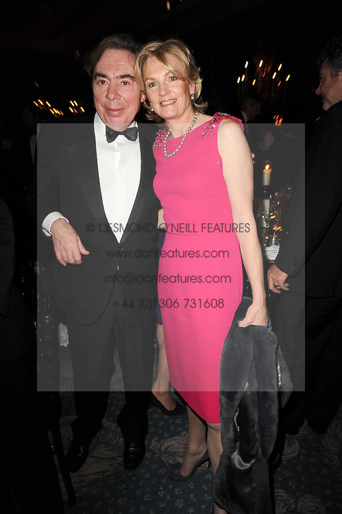 LORD & LADY LLOYD WEBBER at the 20th annual Cartier Racing Awards - the most prestigious award ceremony within European horseracing, held at The Dorchester Hotel, Park Lane, London on 16th November 2010.