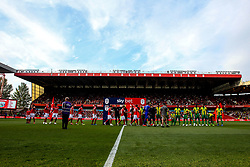 Nottingham Forest and West Bromwich Albion shake hands ahead of their Sky Bet Championship match - Mandatory by-line: Robbie Stephenson/JMP - 07/08/2018 - FOOTBALL - The City Ground - Nottingham, England - Nottingham Forest v West Bromwich Albion - Sky Bet Championship